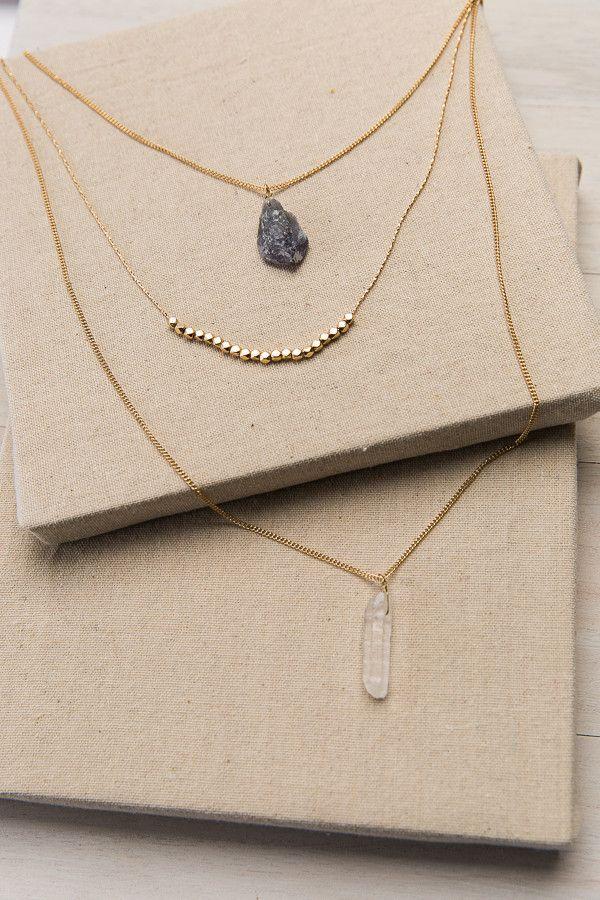 Stay the Quartz Gold Necklace | ShopDressUp.com