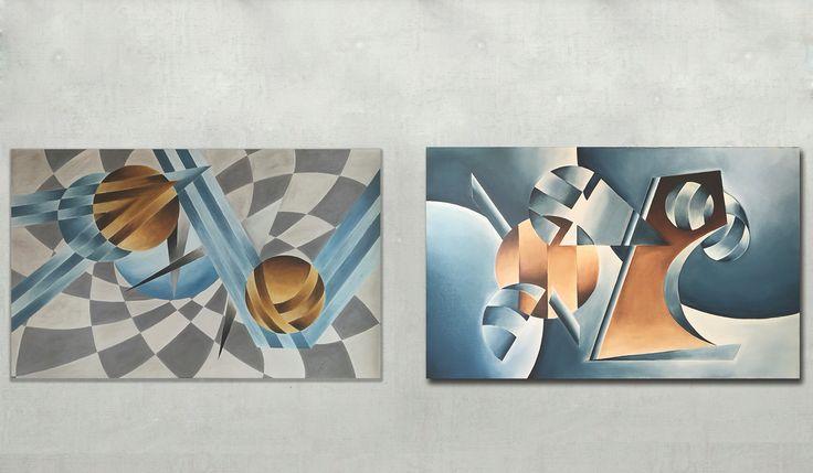 Art, painting     Artist's Chessboard and Lagoon by David Kounovsky