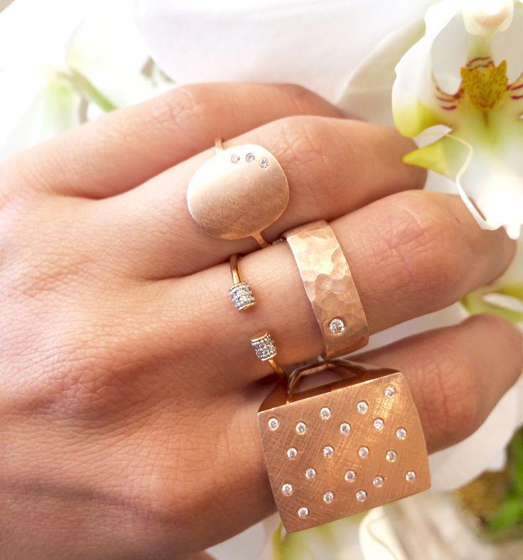 1858 best Bijoux images on Pinterest Rose gold Handmade rings