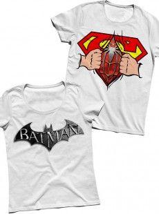 Süperman-Batman Sevgili Tişörtleri