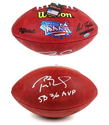 "Tom Brady Autographed/Signed New England Patriots Wilson Authentic Super Bowl 36 NFL Football with ""SB 36 MVP"" Inscription - Tristar *** Learn more by visiting the image link."