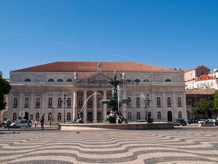 Rossio Square and National Theater, Lisbon