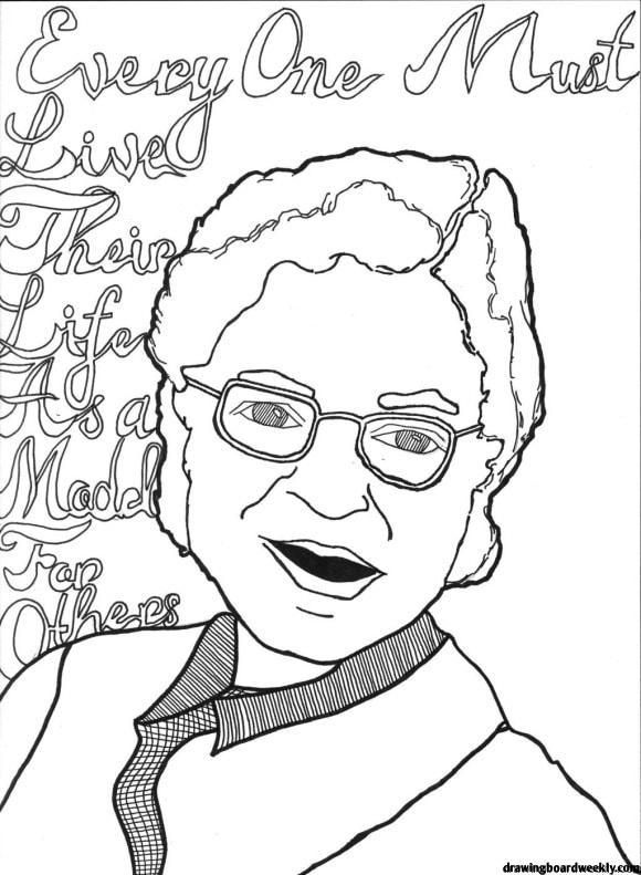 Rosa Parks Coloring Page Rosa Louise Mccauley Parks February 4