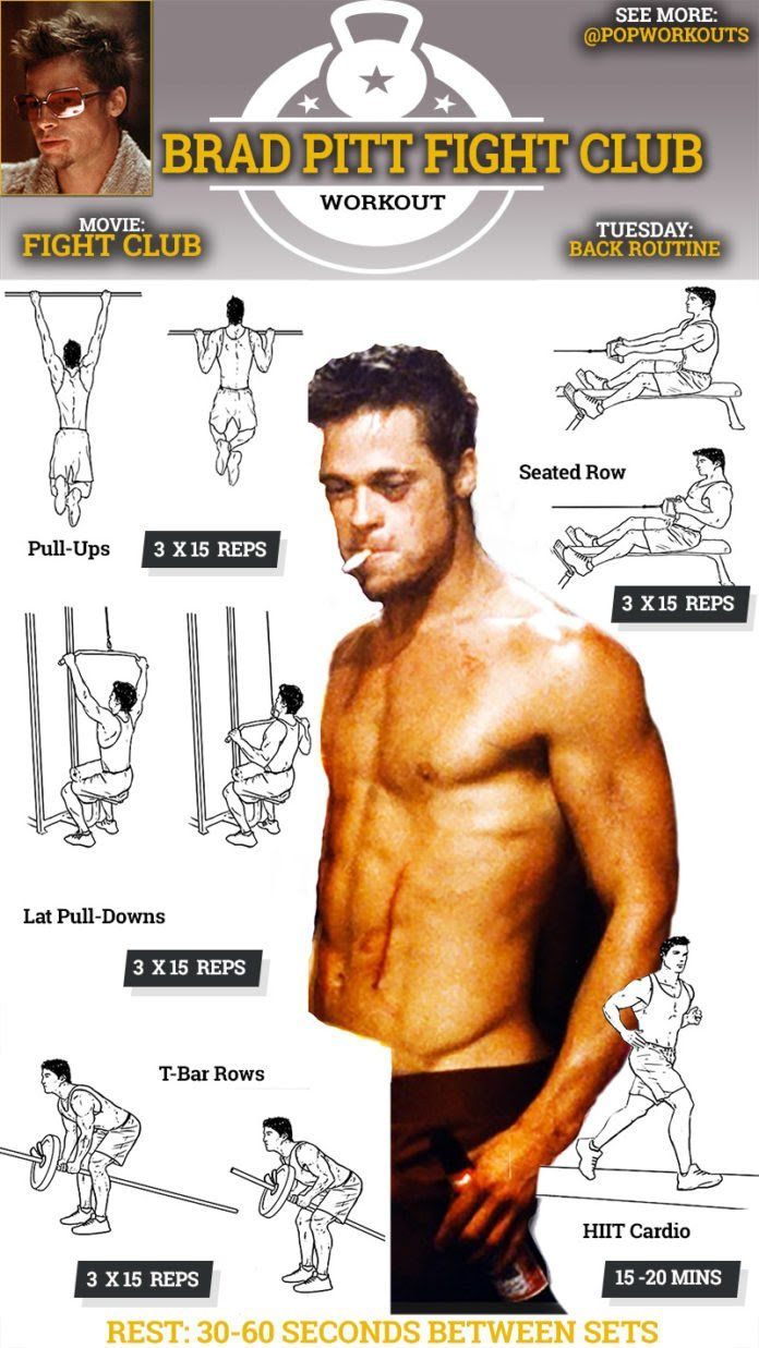 Brad Pitt Fight Club Body How To Get It Exercising