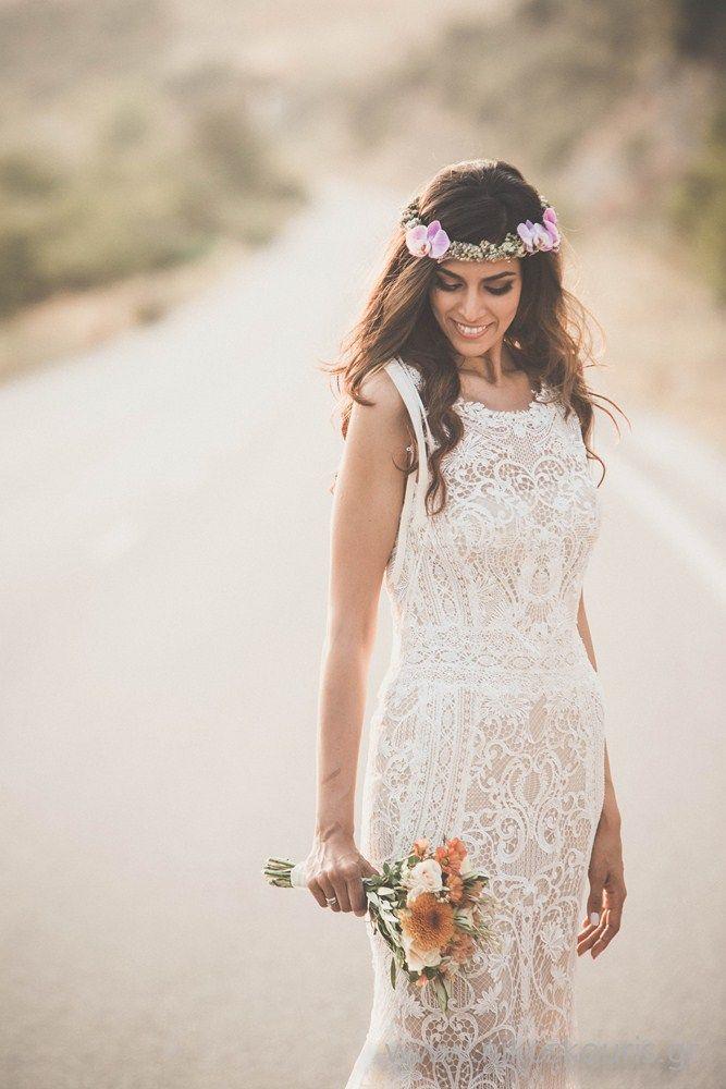 Moustakas flowers -Bohemian wedding- headpiece-bridal bouquet #Moustakasflowers #boho # headpiece #wedding #bridalbouquet