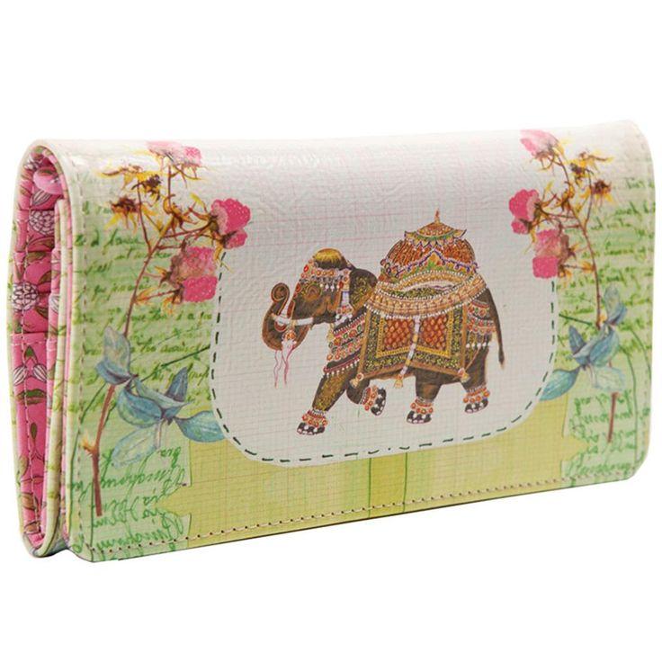 Papaya Art Fancy Elephant Wallet   Wallets Travel Handbag Accessories