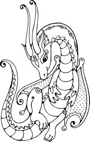 Free printable female dragon coloring pages for kids