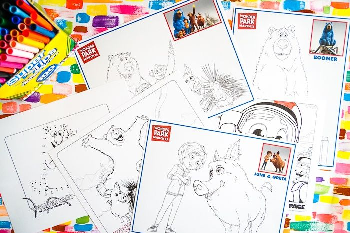 Wonder Park Movie Coloring Pages Kids Activities