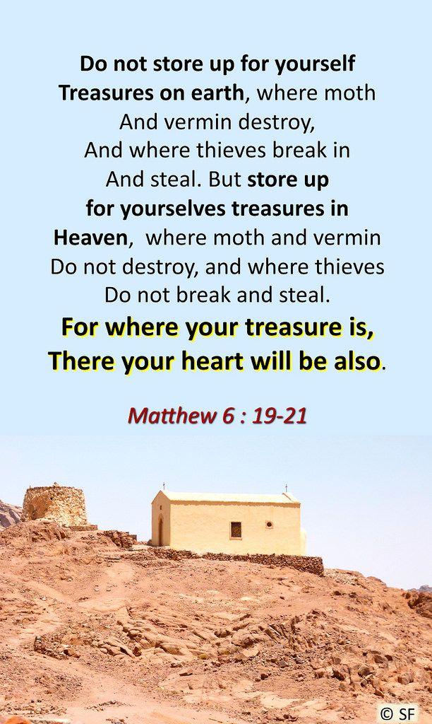 https://flic.kr/p/AHAqAQ | Matthew 6, 19-21 | Ebenezer Halleluiah creationAaron Chapel, Sinaï (Egypte)04/29/2012