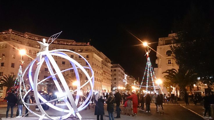 Thessaloniki, Greece. Christmas.
