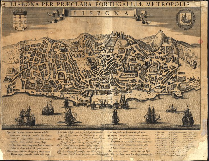 "C.C. 252 V. - Rombout van den Hoeye (1622-1671)-""Lisbona : Lisbona per praeclara Portugalliae metropolis"". [Amesterdão]: Rombout van den Hoeye, [ca 1660].  BNP C.C. 252 V."