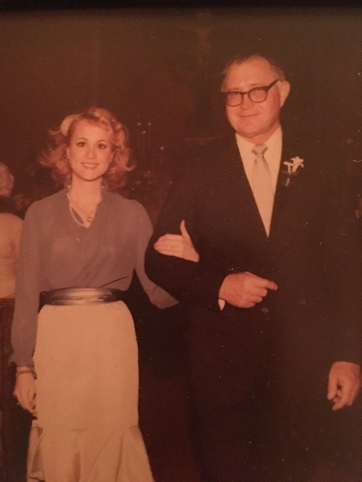 Daddy and me at my sister's wedding 1980