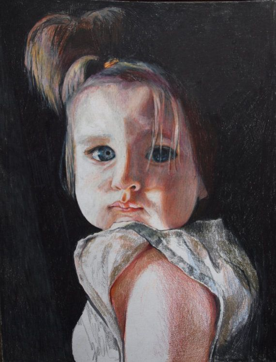 Annie Flynn. Lily in Colored Pencil