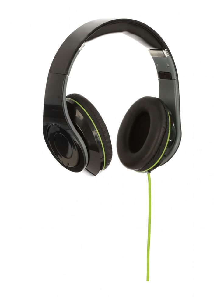 Listen to your music in style with our Super Bass Headphones in a classic black with a subtle green line. Pump up the bass and be the envy of all who see you...