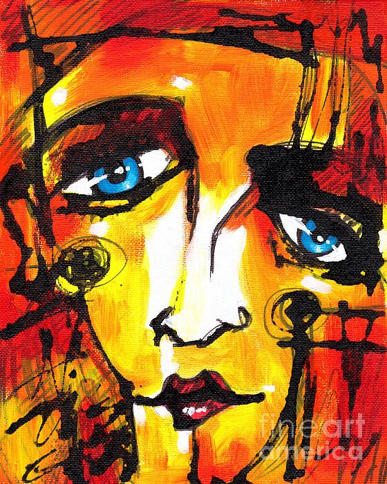 79 best images about Art Class-Abstract Faces on Pinterest | Lady ...
