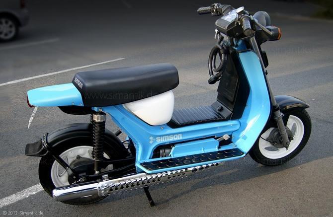SIMSON SR50 rear custom fender design