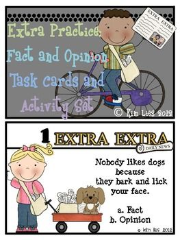 Do you need activities ready to go for fact and opinion?  Well, all you need is a newspaper and this task deck.  Students will love this lesson. Yo...