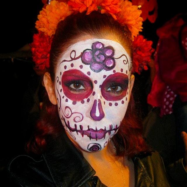 Dia de Los Muertos makeup on me! | Mexico and More | Pinterest