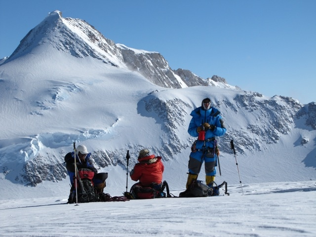 Vinson Massif 16,050ft - the highest mountain of Antarctica, lying in the Sentinel Range of the Ellsworth Mountains
