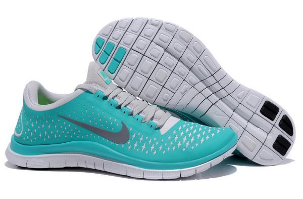 Nike Free 3.0 V4 Mens Running Shoes Green/Reflect Silver-Pure Platinum http://www.nkrunningshoes.co.uk