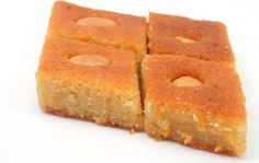 A favorite Egyptian sweet, basboosa is a semolina cake that is baked and soaked with a floral-scented syrup. Its melting sweetness goes well with a cup of hot coffee or tea.