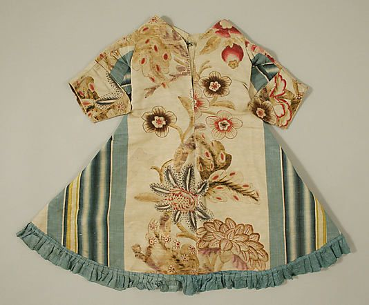 Dress Date: ca. 1730 Culture: Spanish Medium: silk Dimensions: Length at CB: 20 1/4 in. (51.4 cm) Length at CF: 18 1/4 in. (46.4 cm) Credit ...