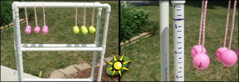 Maybe I can finally get the hubby to make this for the summer. They call it Ladder Toss, but we call it Redneck Golf.