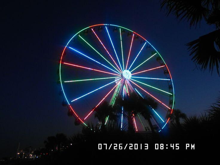 Famous Sky wheel at night