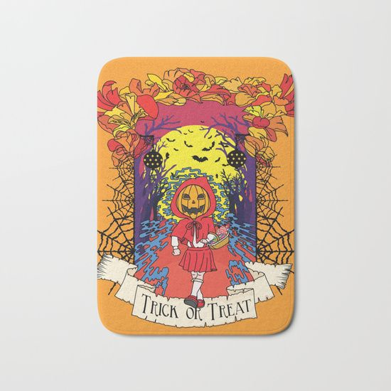 Jack o Red Riding Hood Bath Mat by Little Monster on Society6. Shop art online