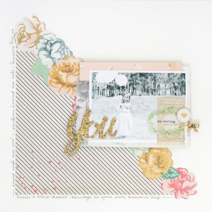 #Papercraft #scrapbook #layout. Maggie Holmes open book layout