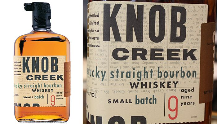 #2 on our Top 10 Most Popular Bourbon Brands is Knob Creek Whiskey
