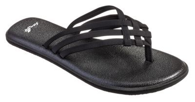 Sanuk Yoga Salty Sandals for Ladies - Black - 10M