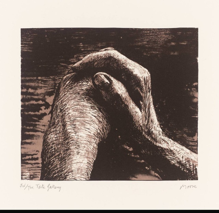Henry Moore - Hands, 1973, lithograph on paper © Tate
