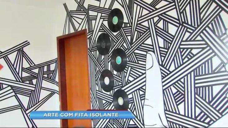 Reportagem Rede Record - Arte com fita isolante.
