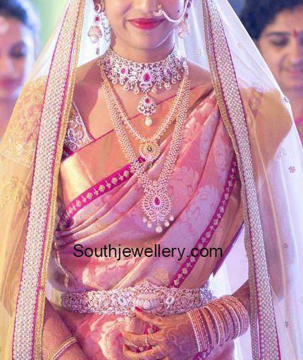 south indian telugu Bride in Diamond Jewellery