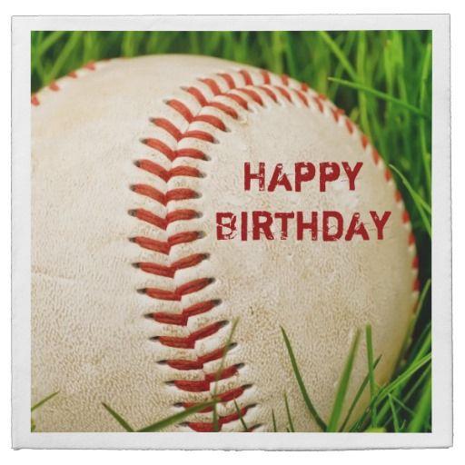 Happy Birthday Baseball Paper Napkin