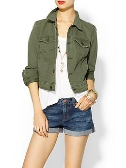 Free People Color Denim Jacket | Piperlime $98 This is a cool color, but I can't believe it's dry clean only. Again, could just dye one myself.
