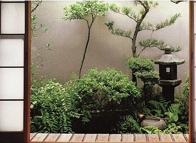 Tsubo-niwa are tiny courtyard gardens in Japan that bring a connection to nature into interior spaces.