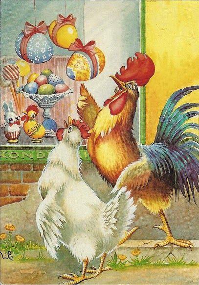 Vintage Easter illustration