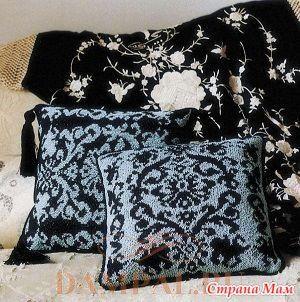 Вязаные подушки с жаккардовым рисунком спицами - Вязание - Страна Мам