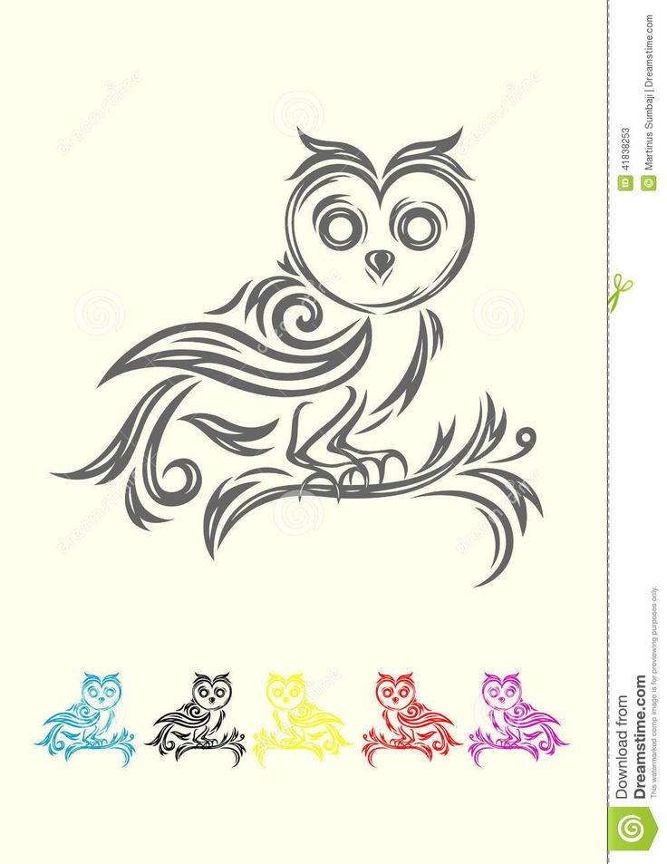 Owl Tribal Stock Vector - Image: 41838253