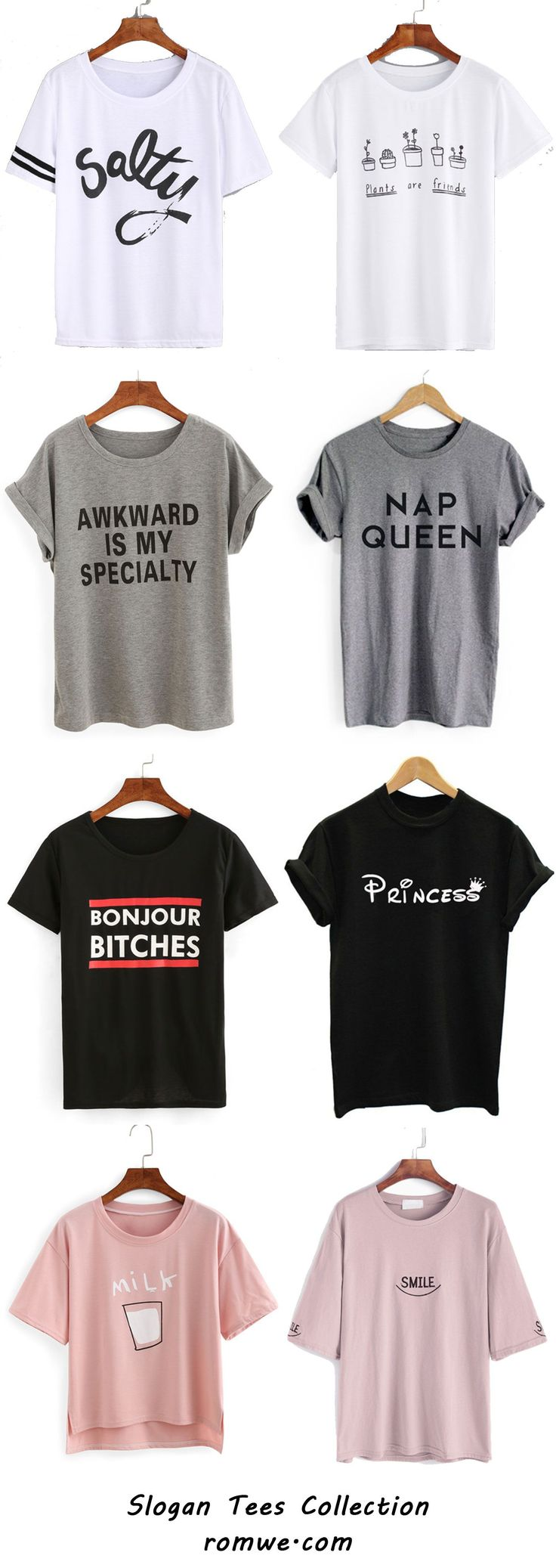 Slogan T-shirts Collection - romwe.com