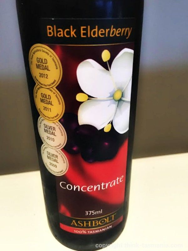 Ashbolt Black Elderberry Concentrate from Providore 24, Church Street Stanley ~ article and photo for think-tasmania.com ~ #Tasmania #Stanley