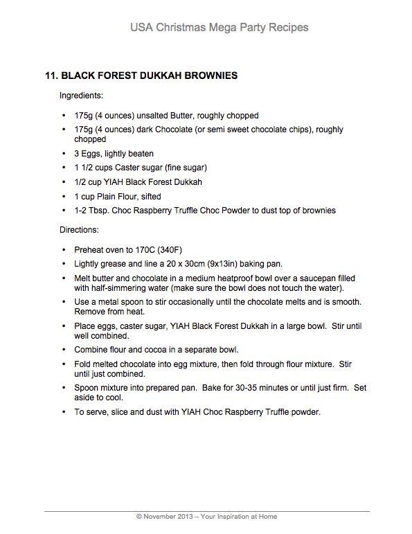 YIAH Blackforest Brownies