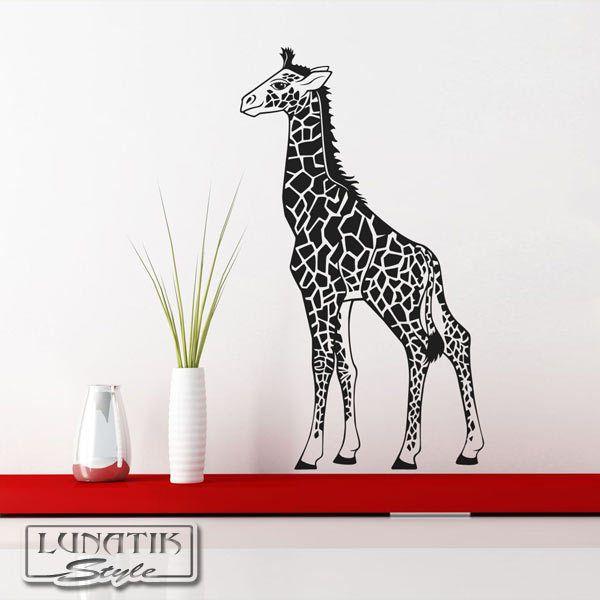 Simple Wandtattoo Giraffe Afrika Savanne WA