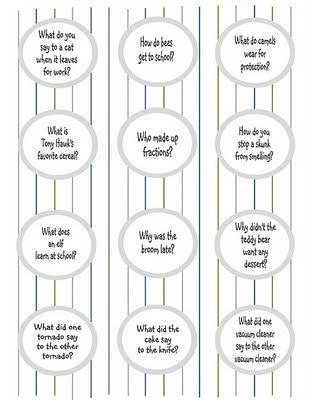 Cute lunch box jokes to print for Girls & Boys! My daughter is going to love these!!!!