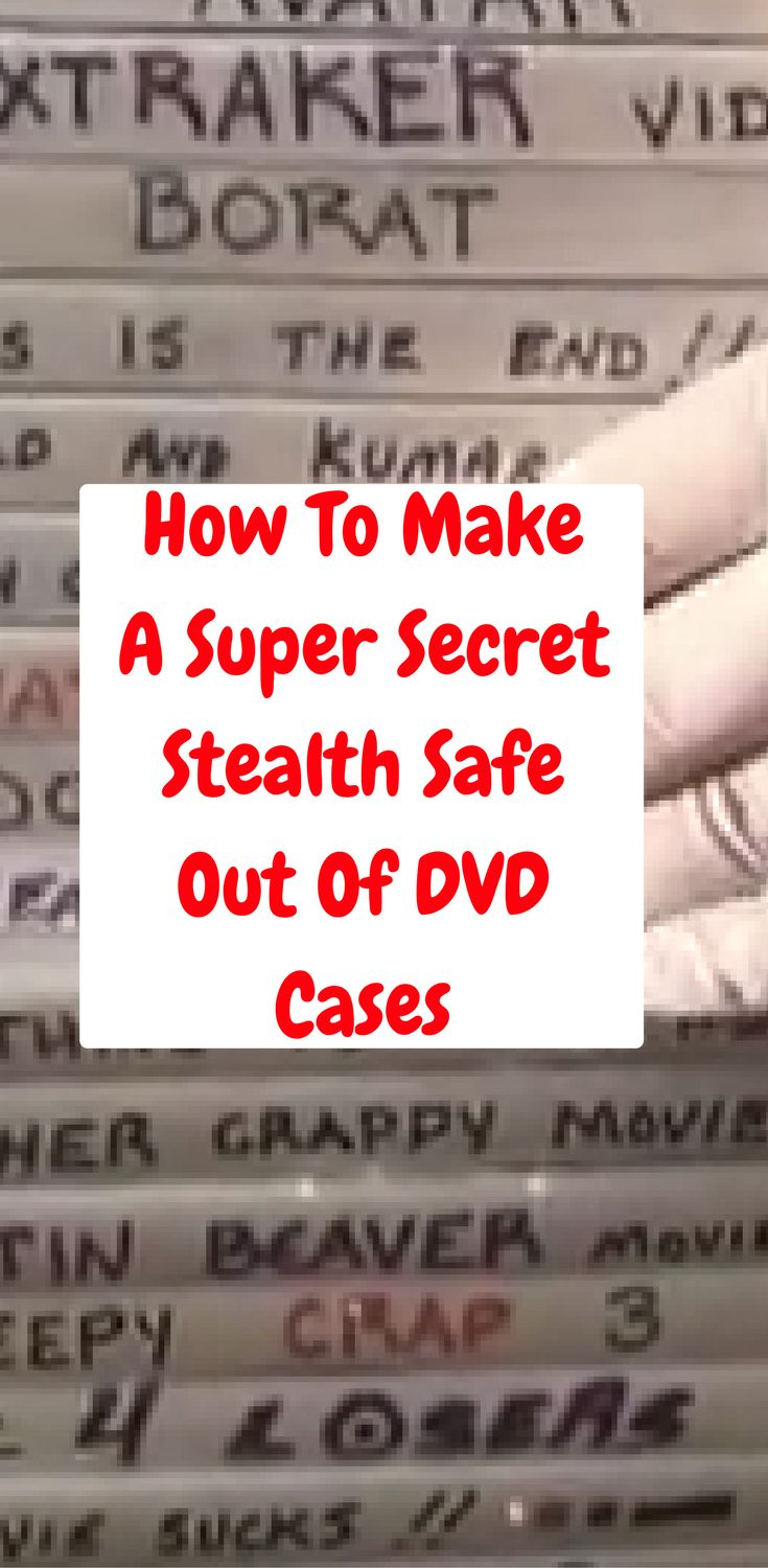Having multiple places, and ways to hide your valuables is a good idea.  When we came across these DIY stealth DVD cases we had to pass it along to you.   http://www.thegoodsurvivalist.com/how-to-make-a-super-secret-stealth-safe-out-of-dvd-cases/