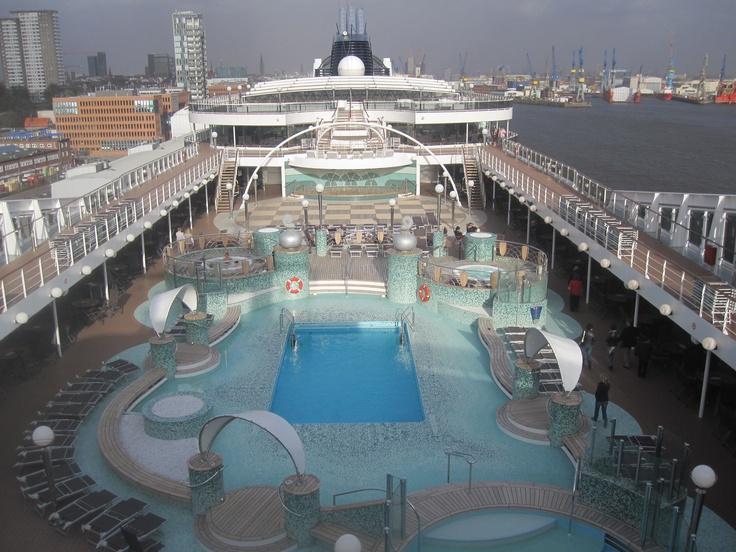 Mid-ships view of @msc_cruises_uk @msccruisesUSA #MSCMagnifica from Deck 16. She was docked in #Hamburg. #cruise #MSCCruises #GirlsTravel