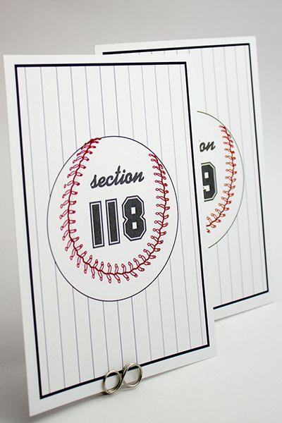 Take me out to the ball game! Stadium seating is a fun choice for the sports-loving couple.