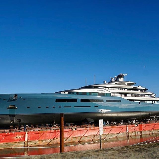 98m Yacht AVIVA launched by Abeking & Rasmussen
